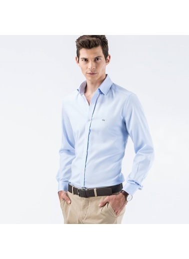 Lacoste Uzun Kollu Klasik Gömlek Mavi